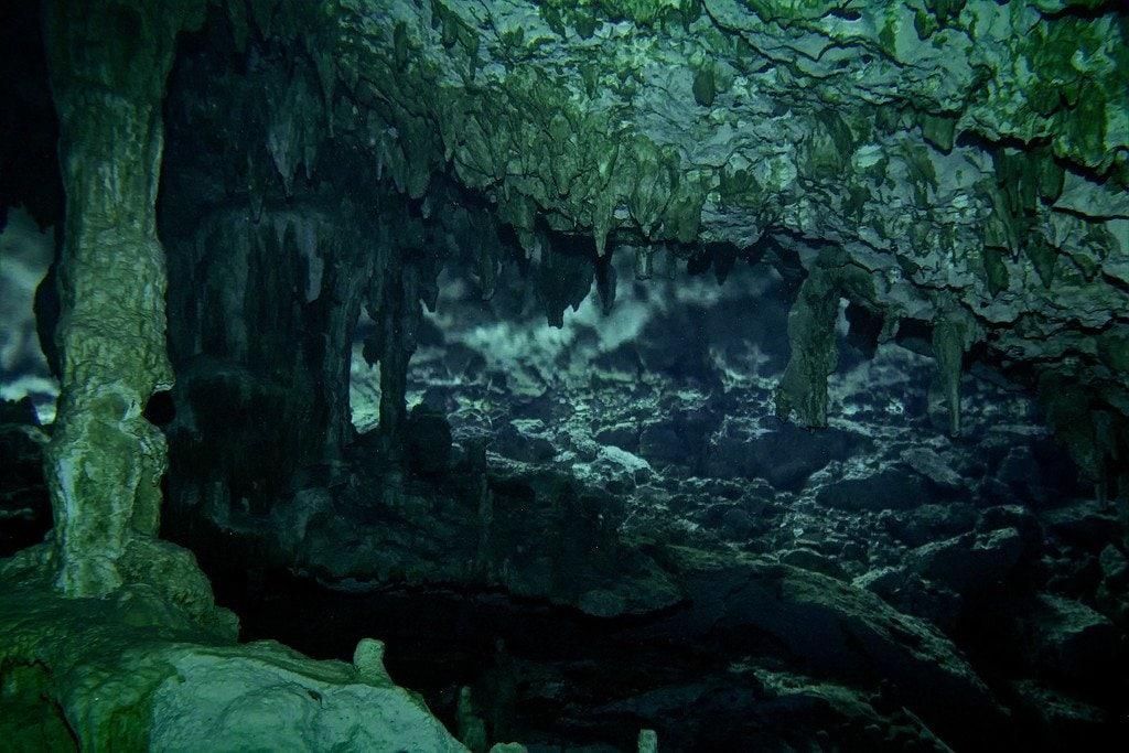 Cave Diving Dos Ojos Mexico