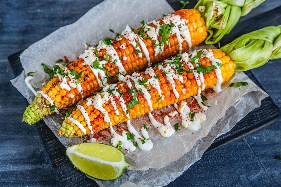Elote Corn in Mexico