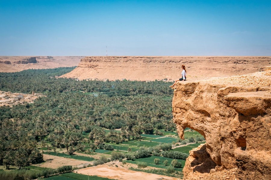 Cliff Overlook on Morocco Road Trip