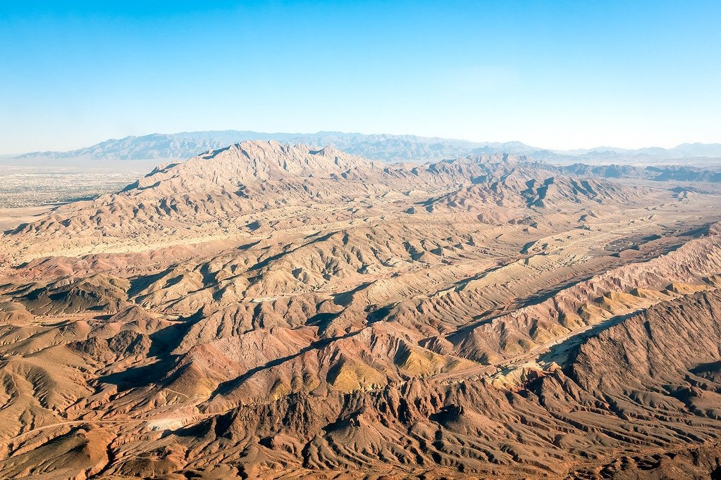 Nevada Desert via Helicopter