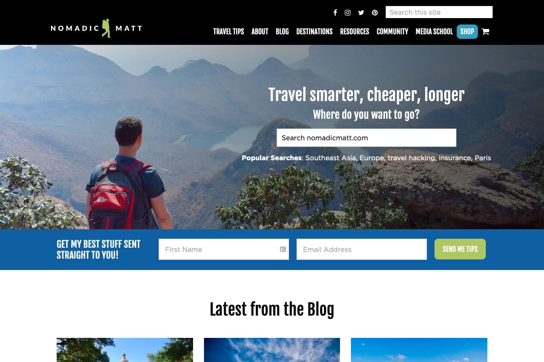 Nomadic Matt Travel Site