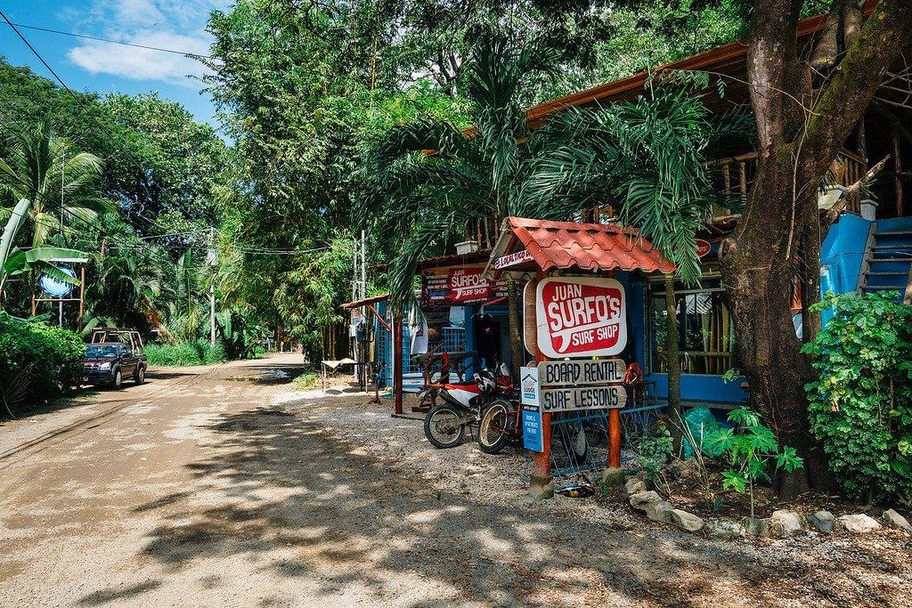Surf shop in Nosara costa rica.
