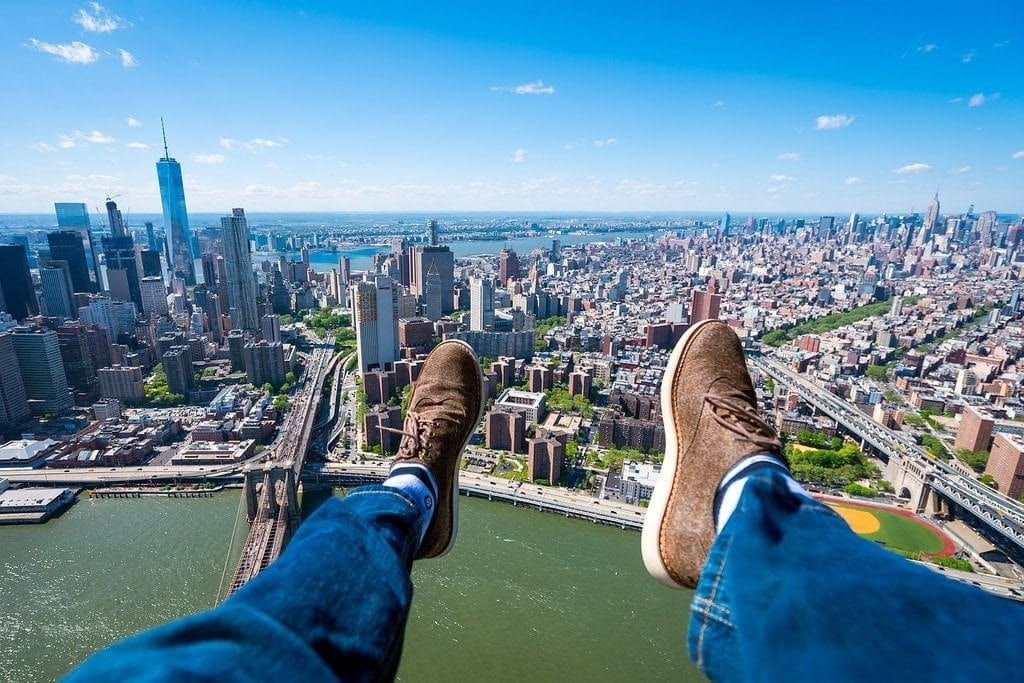 Hanging Out Of A Helicopter Over Manhattan Expert Vagabond