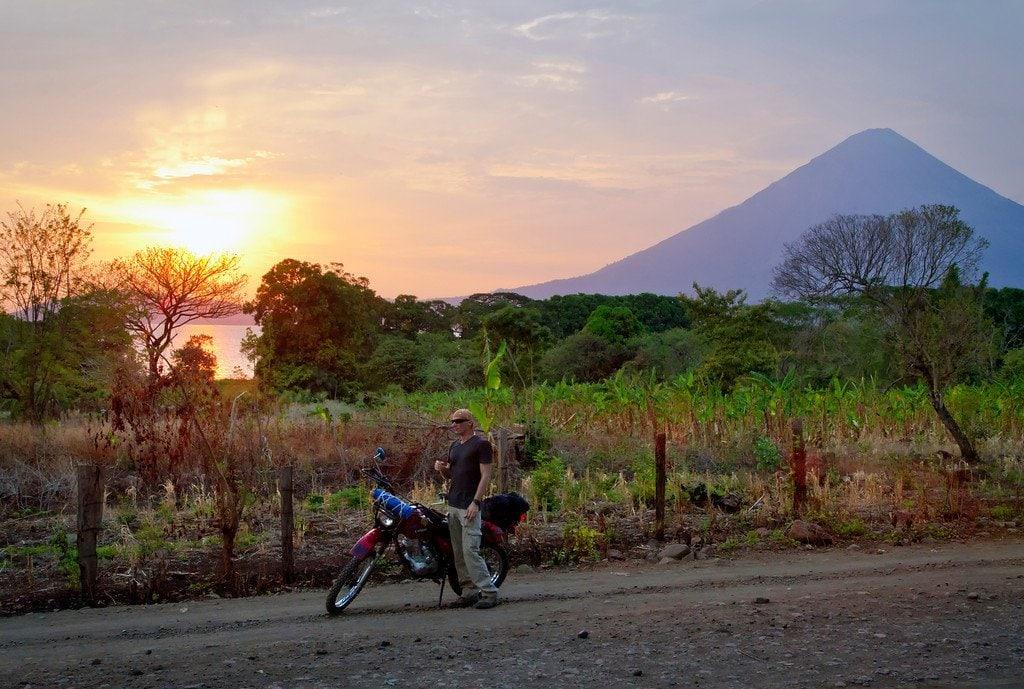 Ometepe Nicaragua Volcano Sunset