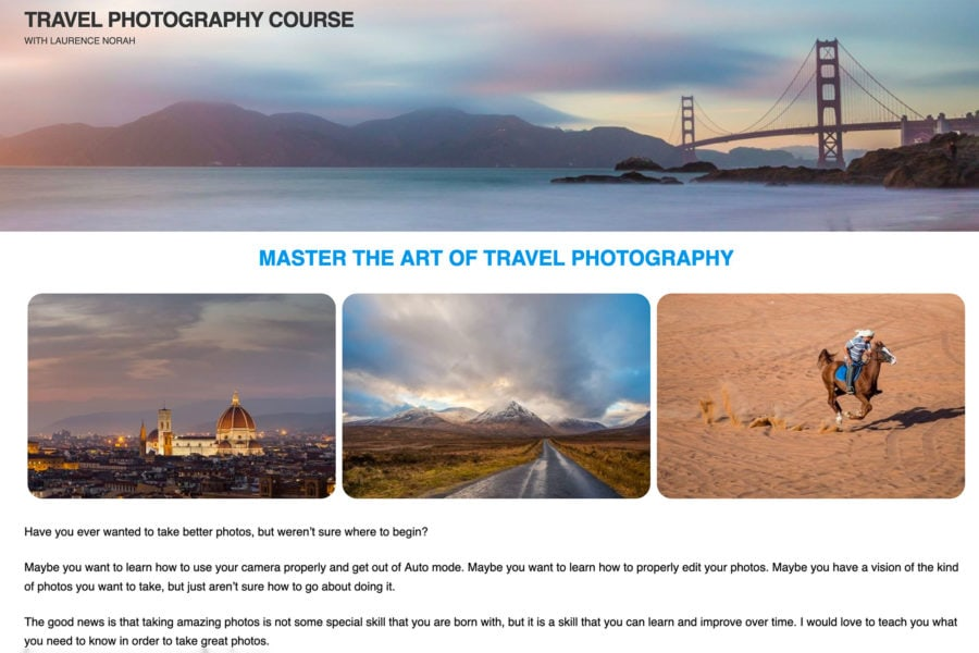 The Travel Photography Course