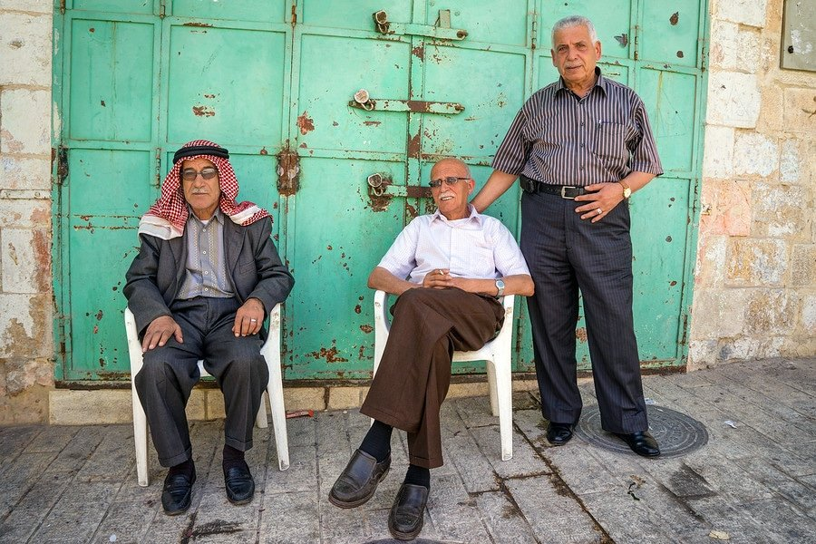 Palestine Hebron Old Men