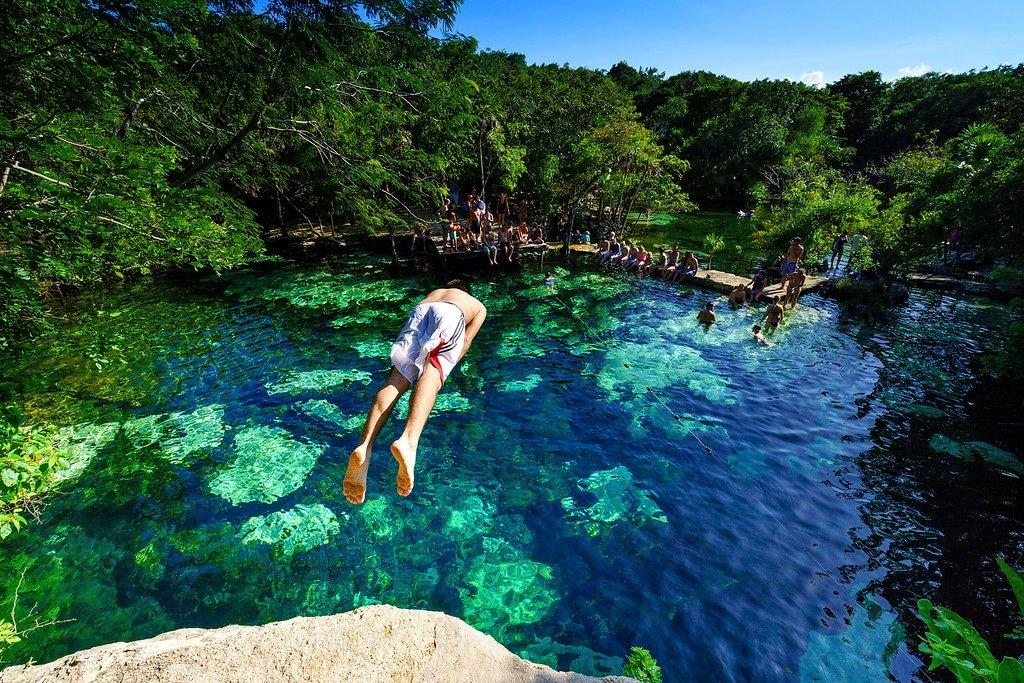 Cenote Near Playa Del Carmen