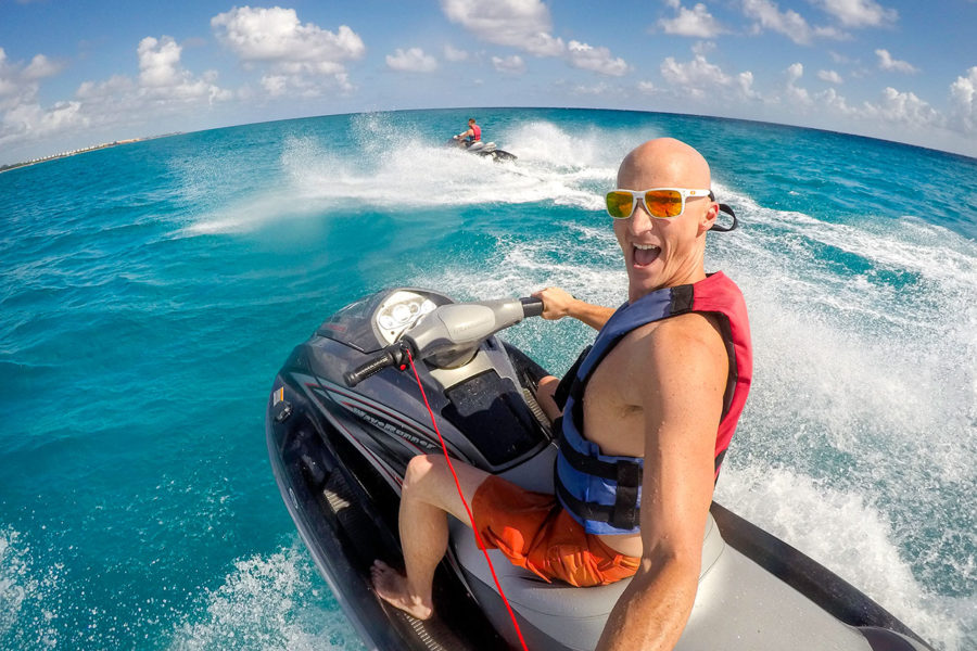 Riding a Jet Ski in Mexico