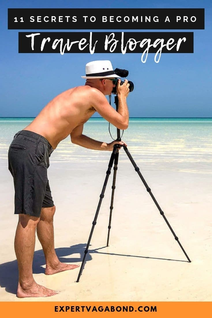 Want to become a professional travel blogger? Learn how to grow and improve your travel blog with my best tips after 8 years of professional blogging. More at ExpertVagabond.com