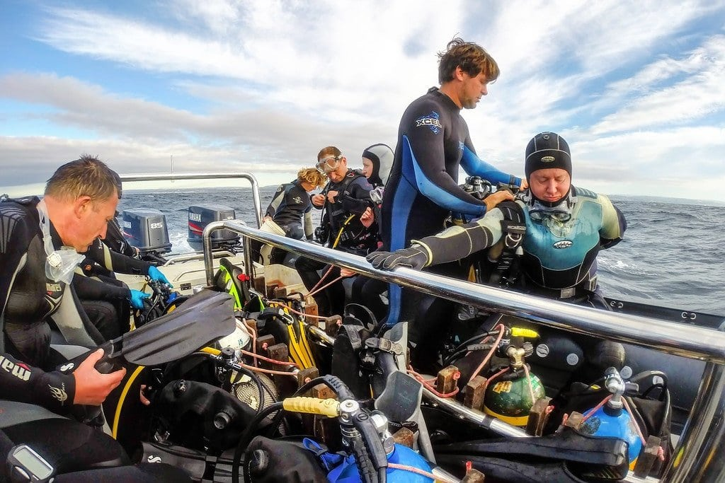 Strapping on the Dive Gear