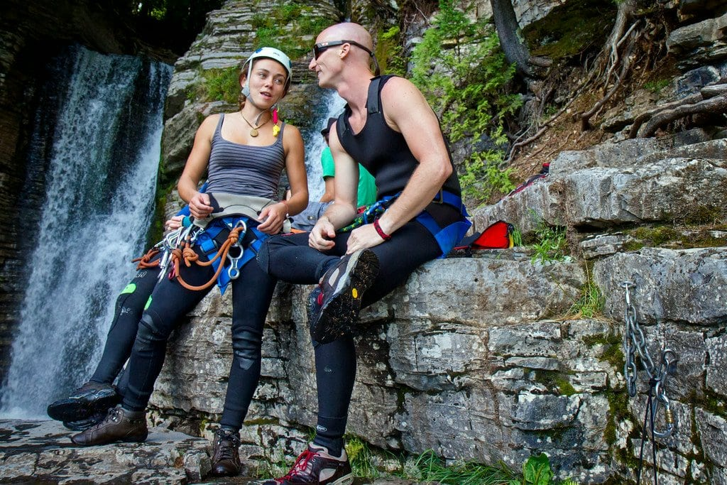 Canyoning Waterfalls Quebec Canada