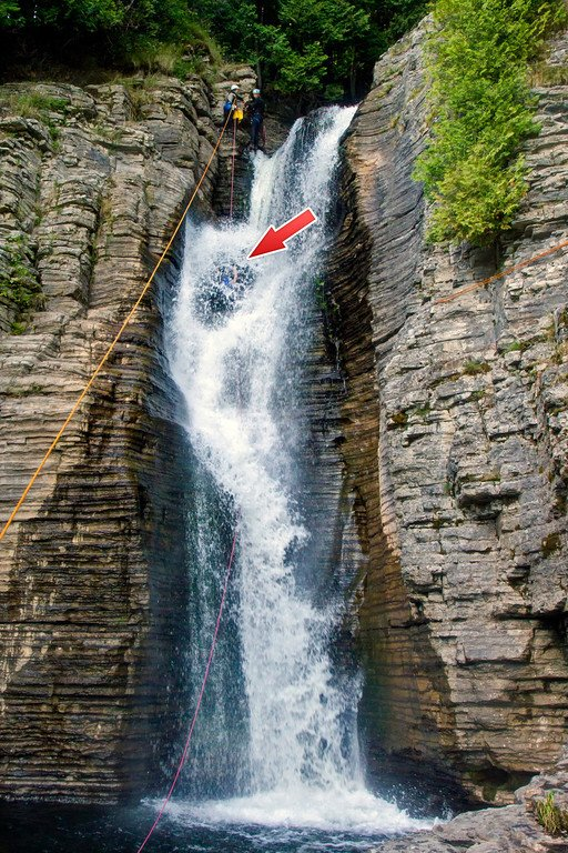 Rappelling Down Waterfalls Quebec Canada