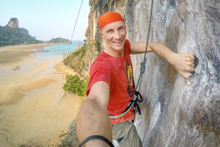 Railay beach climbing