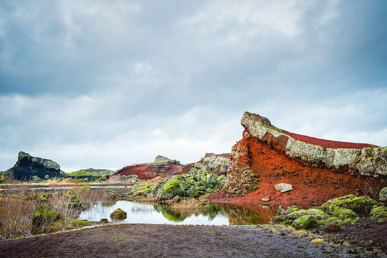The Rauðhólar Red Hills