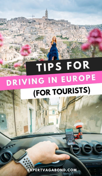 Learn how to rent a car in Europe plus useful tips for driving there too. #TravelTips #RentalCars #Europe #Travel