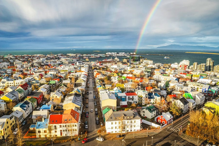 Reykjavik City Rainbow