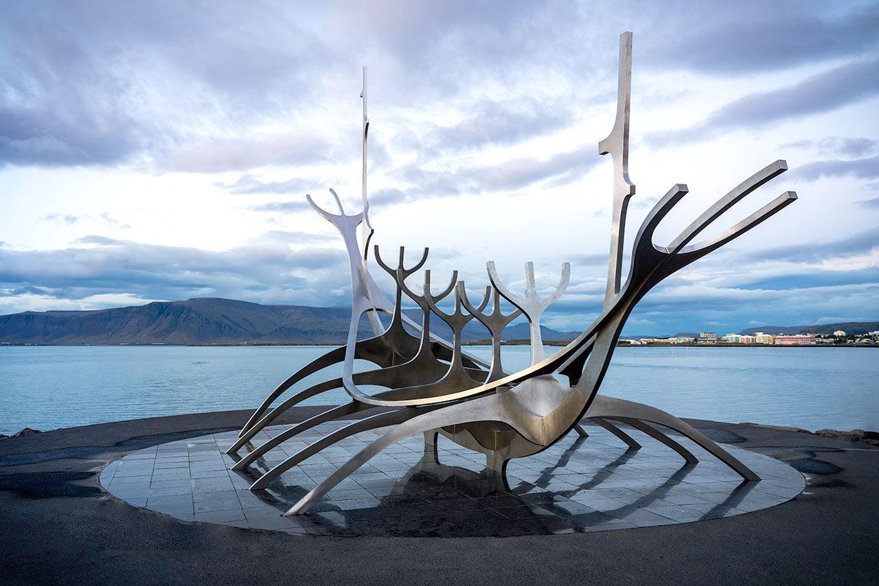 Sculpture in Reykjavik