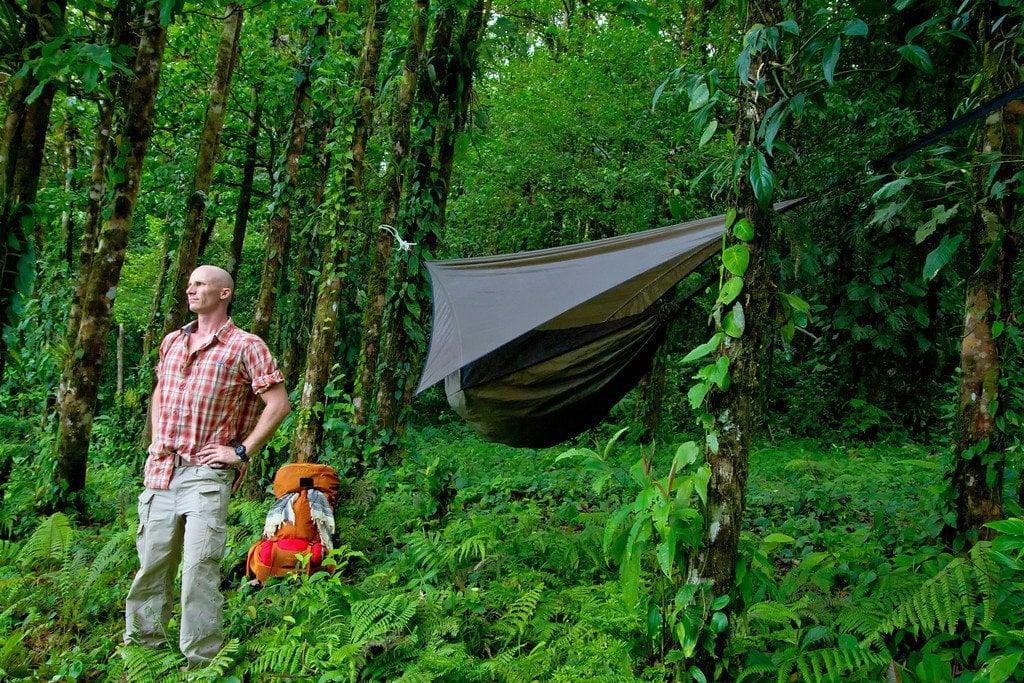 Camping near Rio Celeste Costa Rica