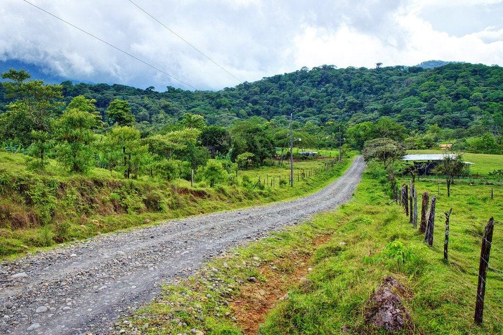 Entrance Rio Celeste Costa Rica