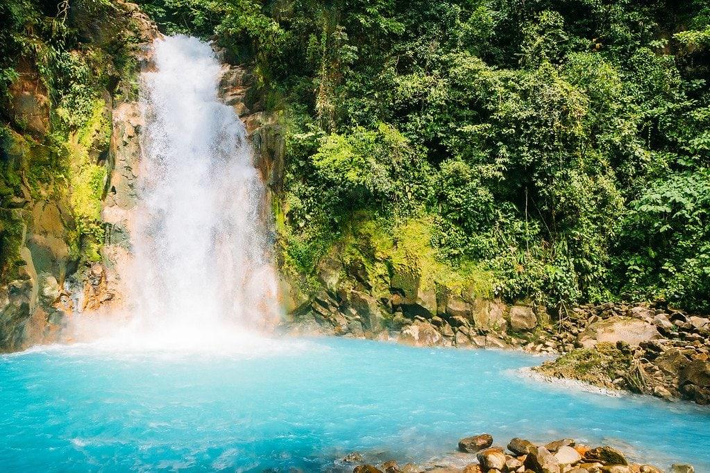 Rio Celeste Waterfall Costa Rica