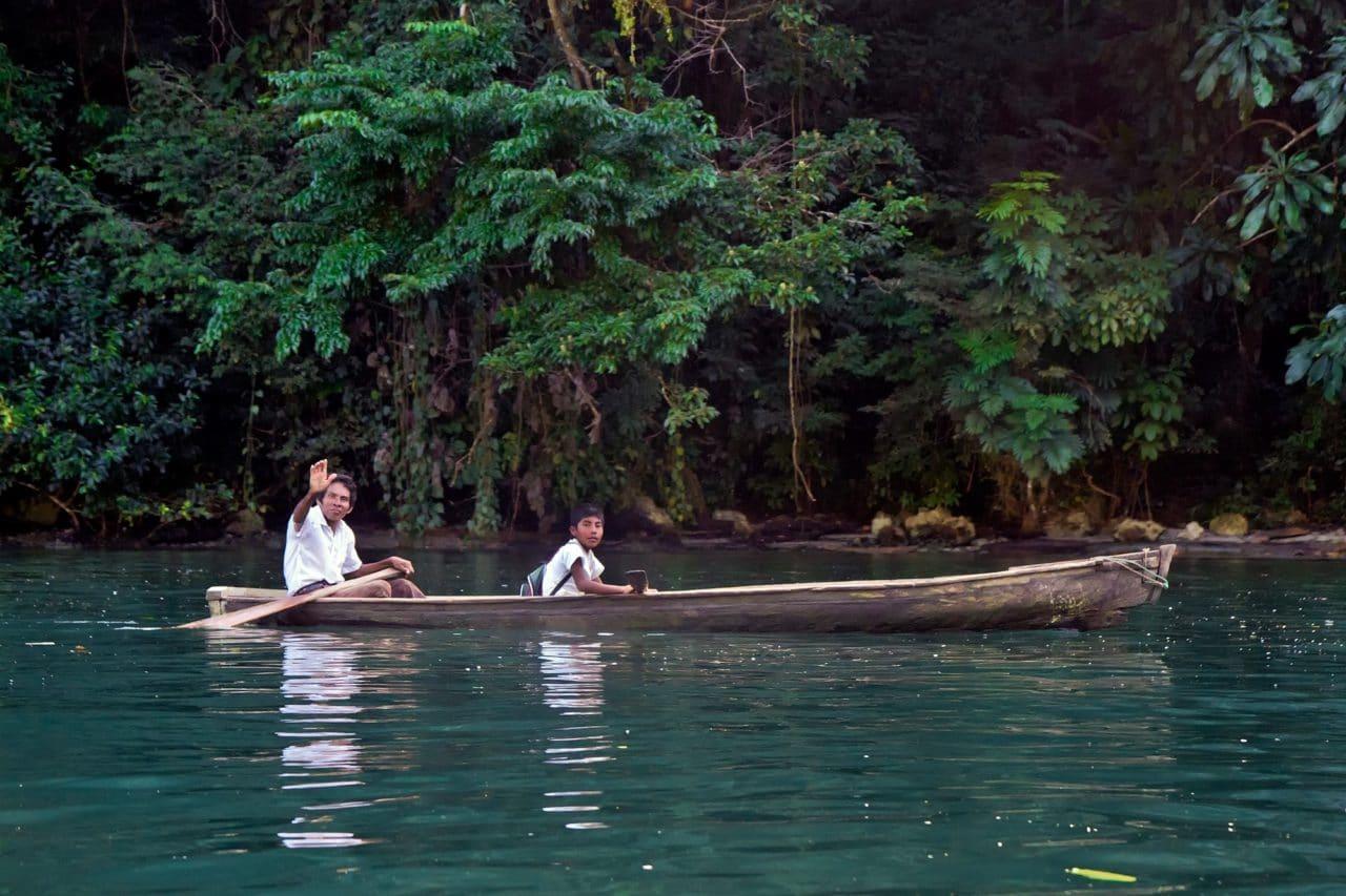 Rio Dulce River Guatemala Wooden Canoe