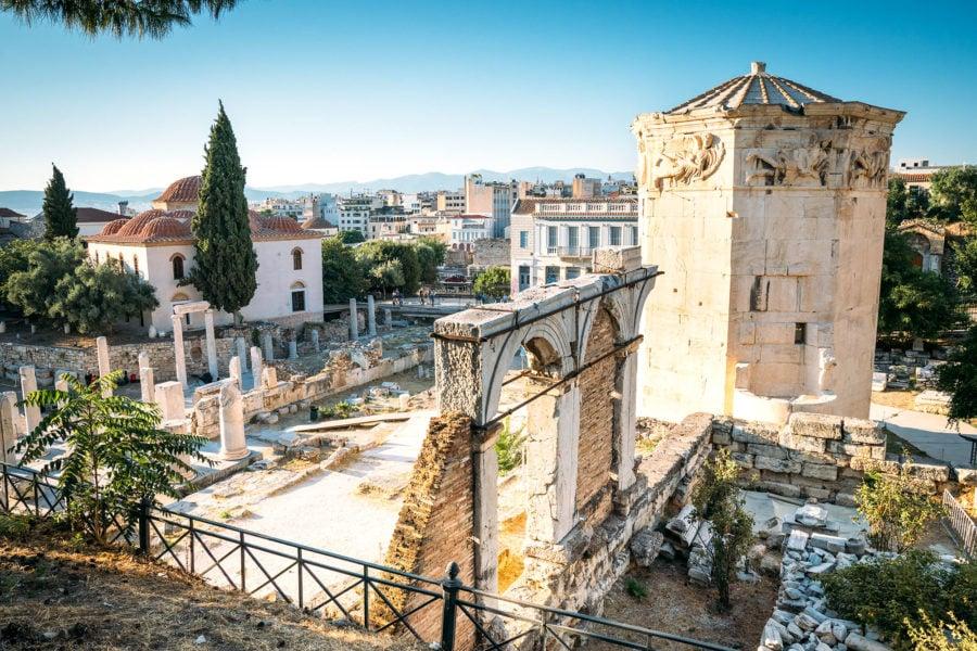 Roman Agora Athens Ruins