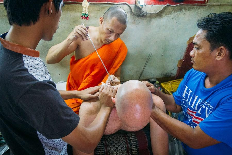 Monk Tattoo in Thailand