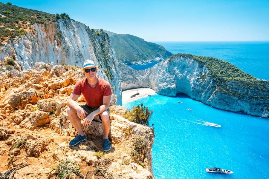 Navagio Beach Cliffs Greece