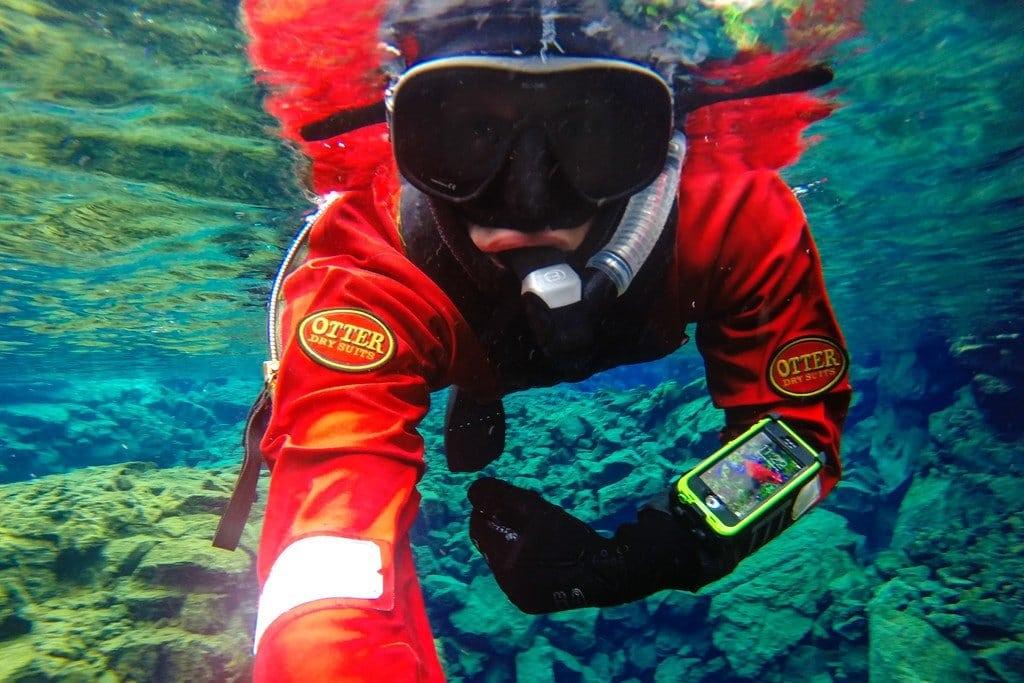 Snorkeling LifeProof Iceland