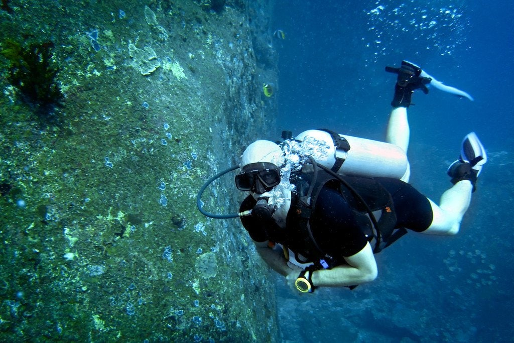 Scuba Diver Similan Islands Thailand