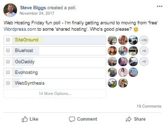 SiteGround Hosting Poll