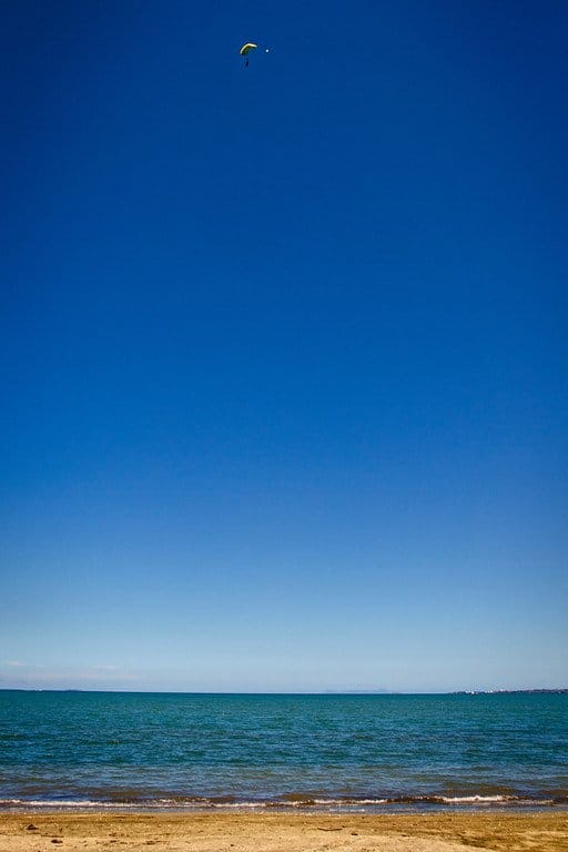 Skydiver Landing Fiji
