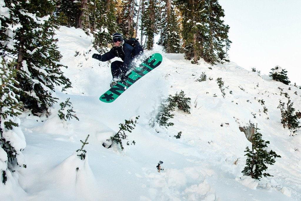 Snowboarding Snowbird Utah