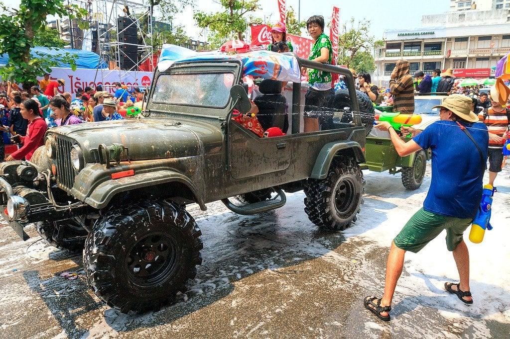 Songkran Festival Cars