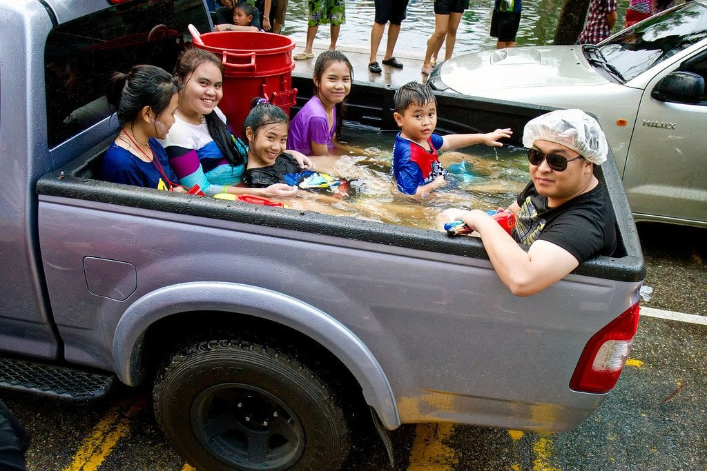 Songkran Water Fight Chiang Mai Thailand