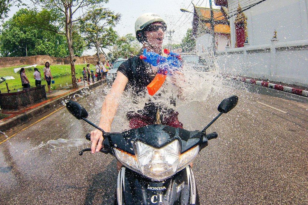 Songkran Moto Chiang Mai Thailand
