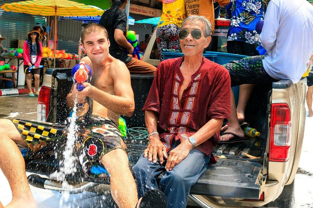 Songkran New Year Chiang Mai Thailand