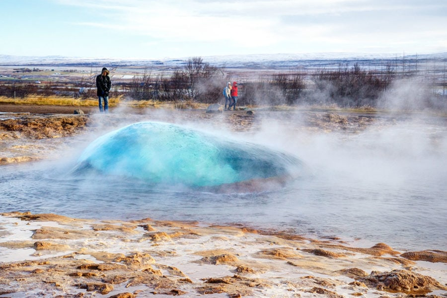 Iceland Photography of Geyser Bubble