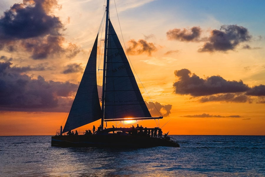 Cancun Highlights: Sunset Sailing