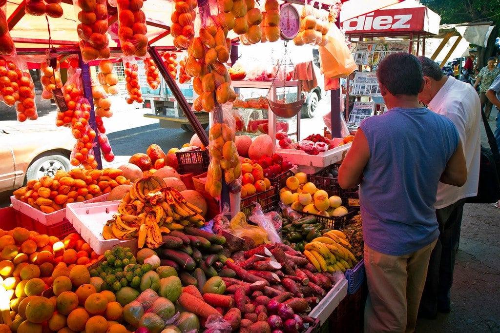 Fruit Vendor in Tegucigalpa
