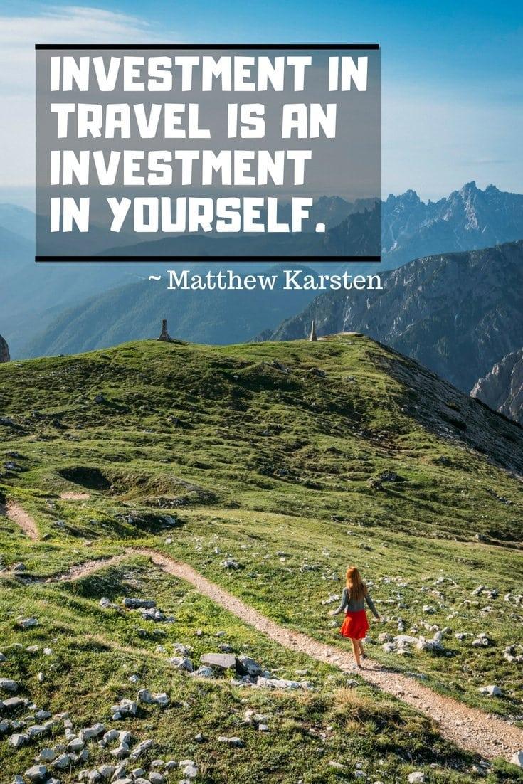 Inspiring Travel Quotes by travel blogger Matthew Karsten