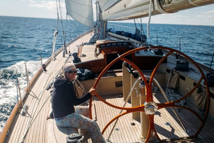 Working on sailing yachts