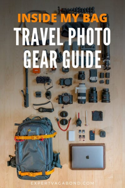 What's in my camera bag? Learn what I pack for my professional travel photography jobs around the world.