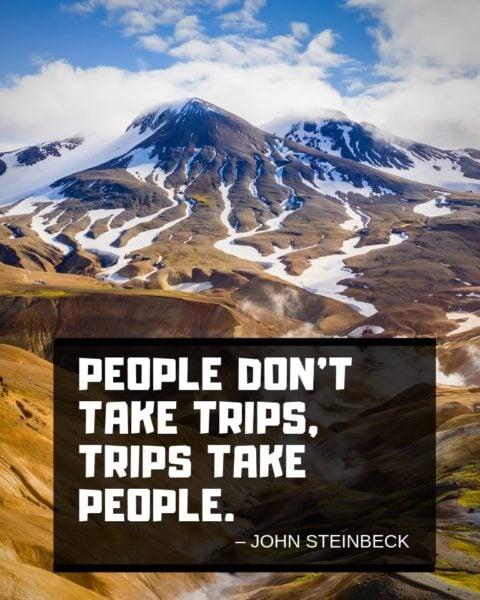 John Steinbeck Travel Wisdom