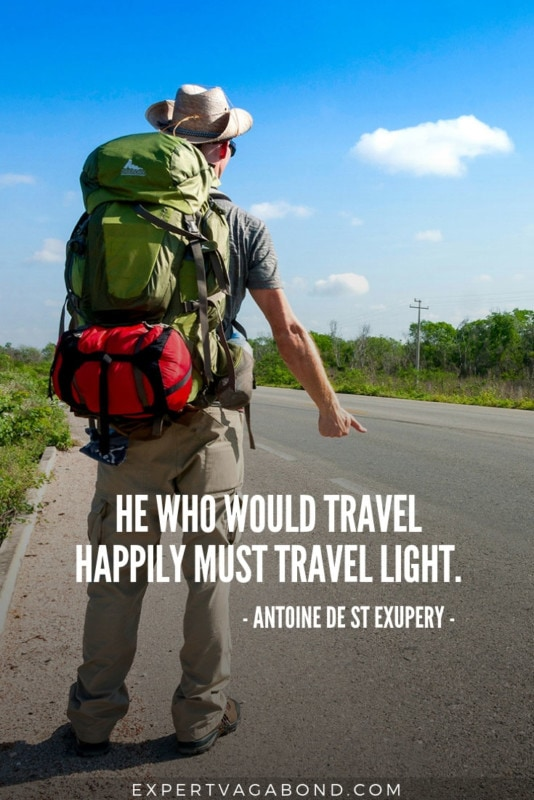 Travel Quote 10: Thoughts on traveling light