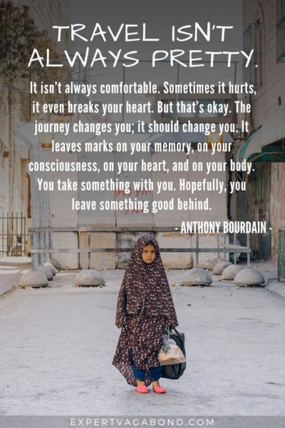 Travel Quote 2: Travel isn't pretty by Anthony Bourdain