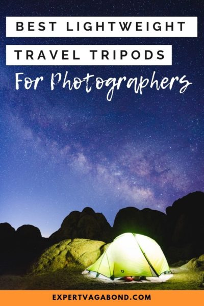 Best Lightweight Travel Tripods for photography.