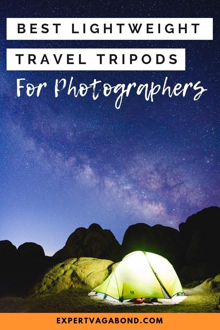 Best Lightweight Travel Tripods. More at ExpertVagabond.com