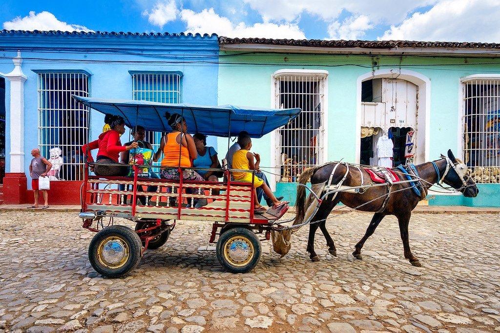 Trinidad taxi by horse