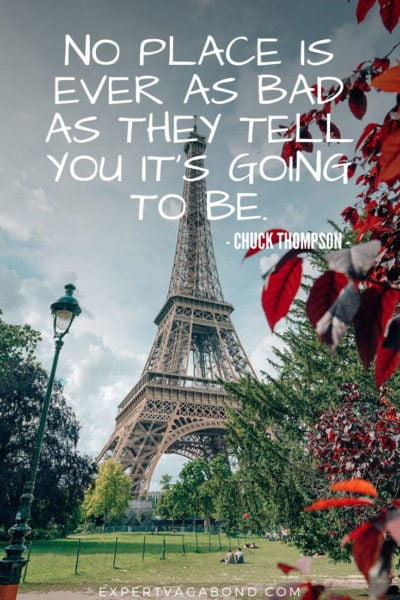 Travel Quote 7: Chuck Thompson wisdom